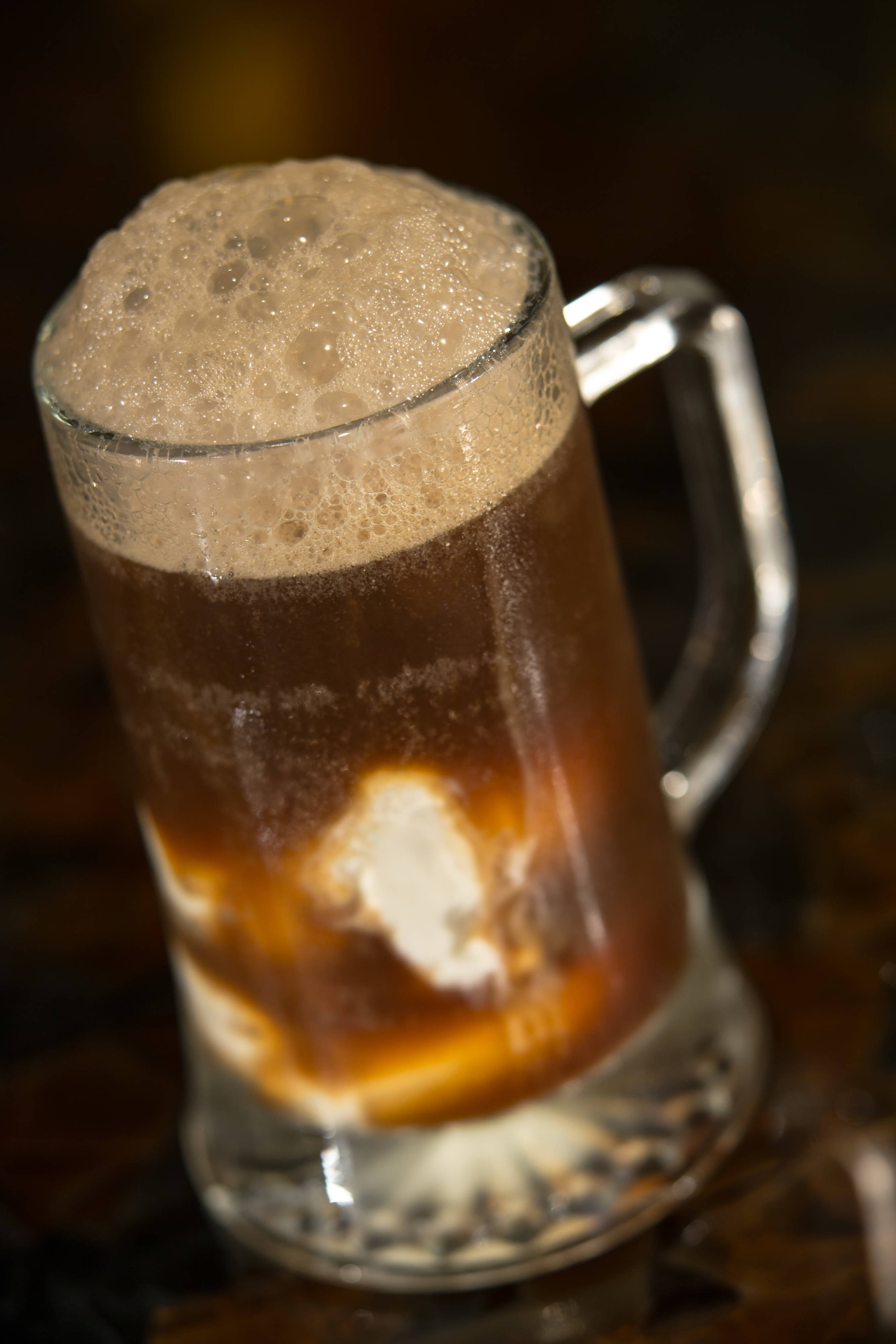 Local root beer float
