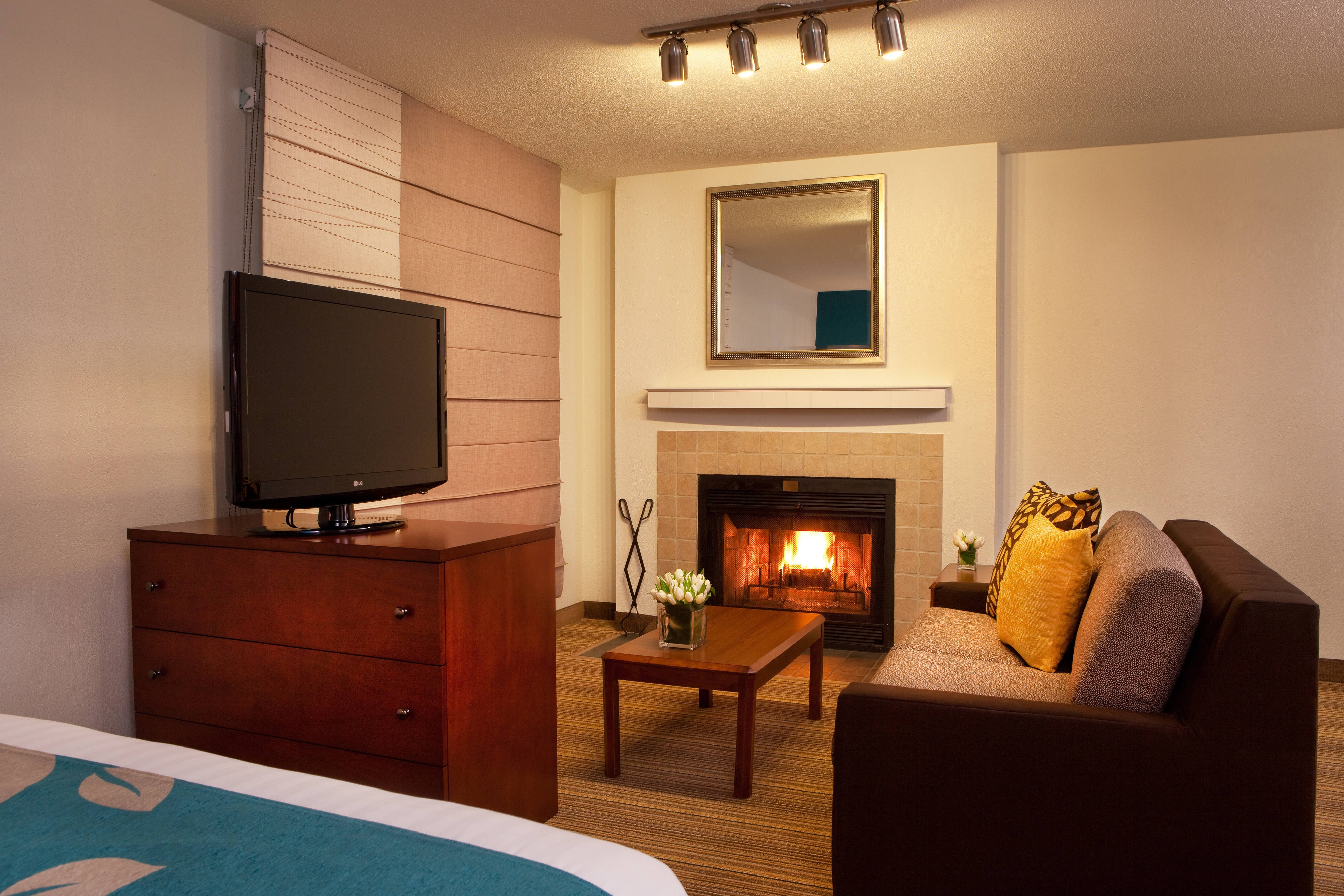 Fireplace suites in Tysons Corner