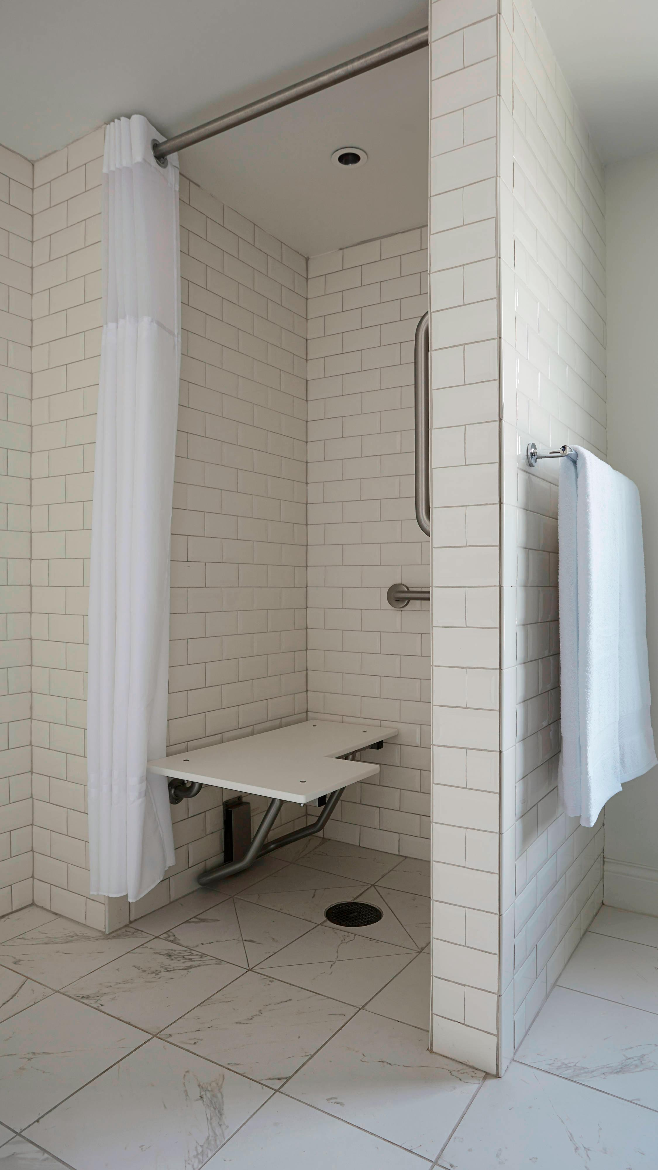 Accessible Guest Bathroom - Roll-in Shower