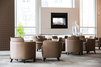 Chic Lobby Seating Area