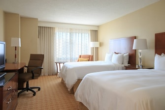 Double/double hotel room Gaithersburg Maryland