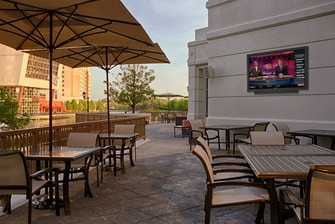 Outdoor patio at Gaithersburg hotel