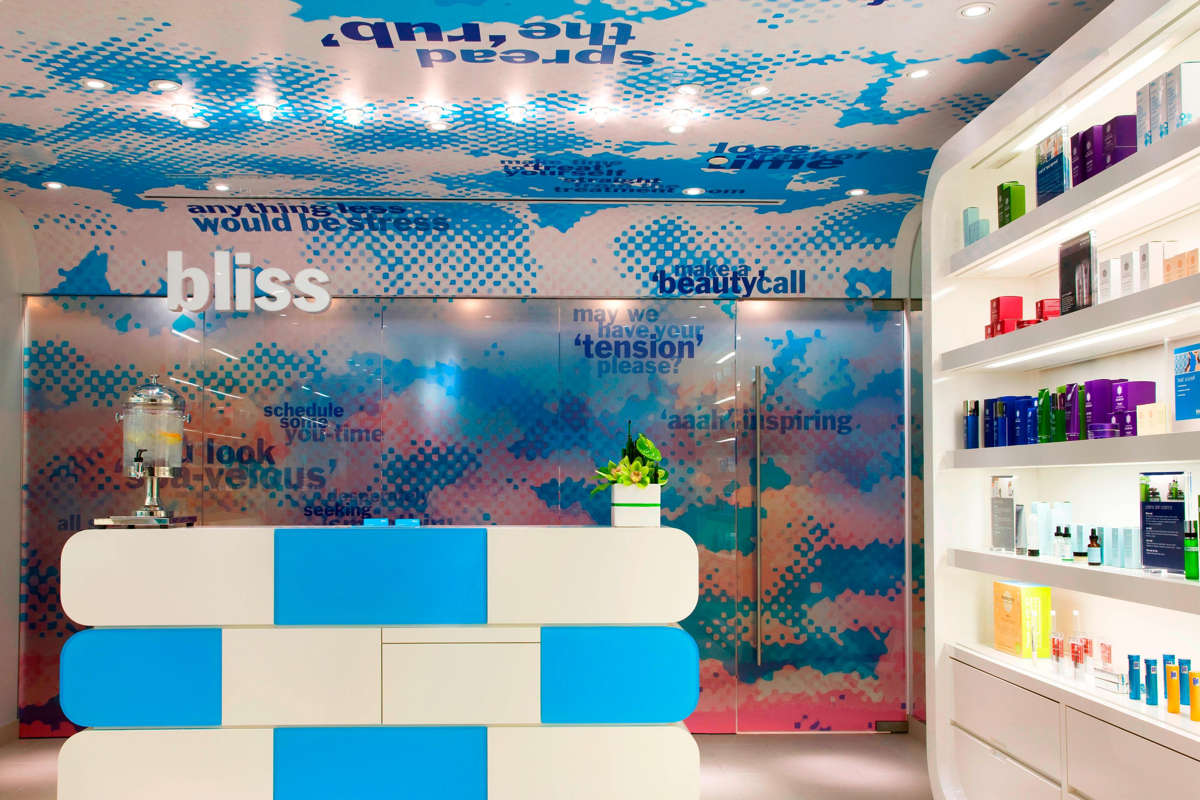 Bliss Welcome Desk & Retail Area