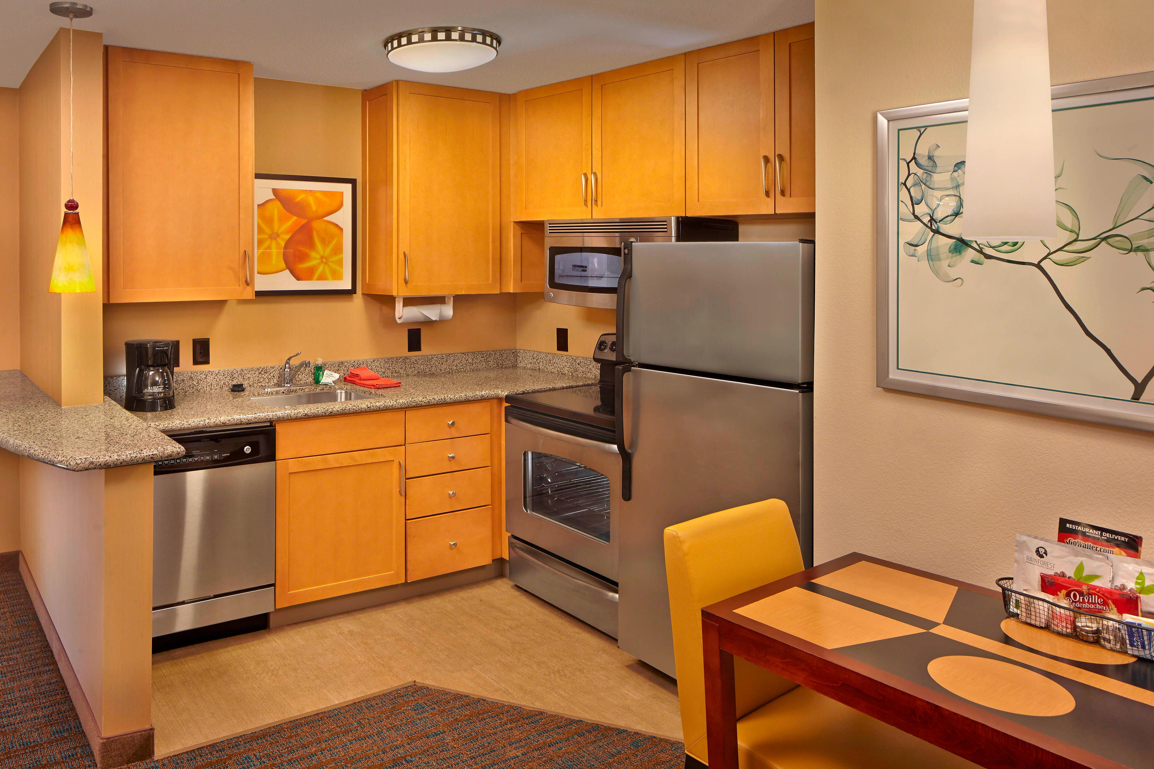luxury near orlando towneplace kitchen picture kitchens seaworld hotel suites hotels of with