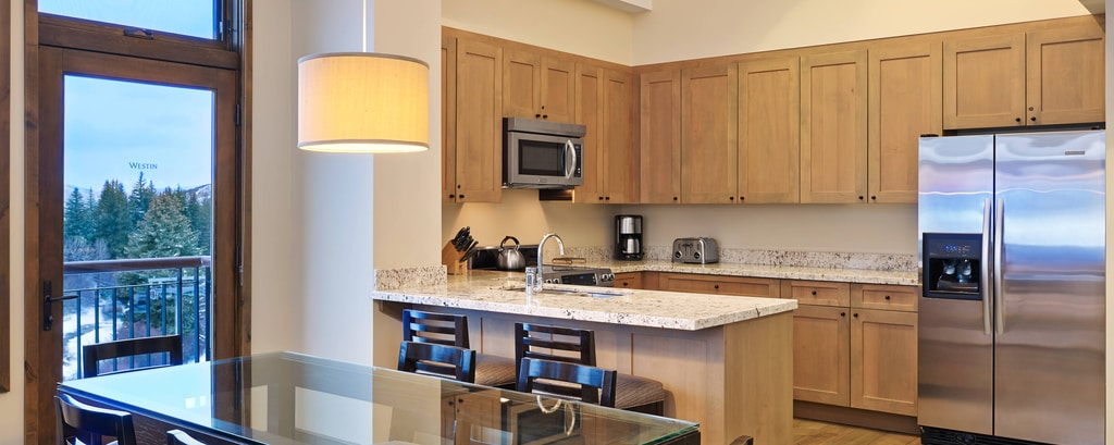 The Westin Riverfront Beaver Creek - Two-Bedroom Kitchen & Living Room