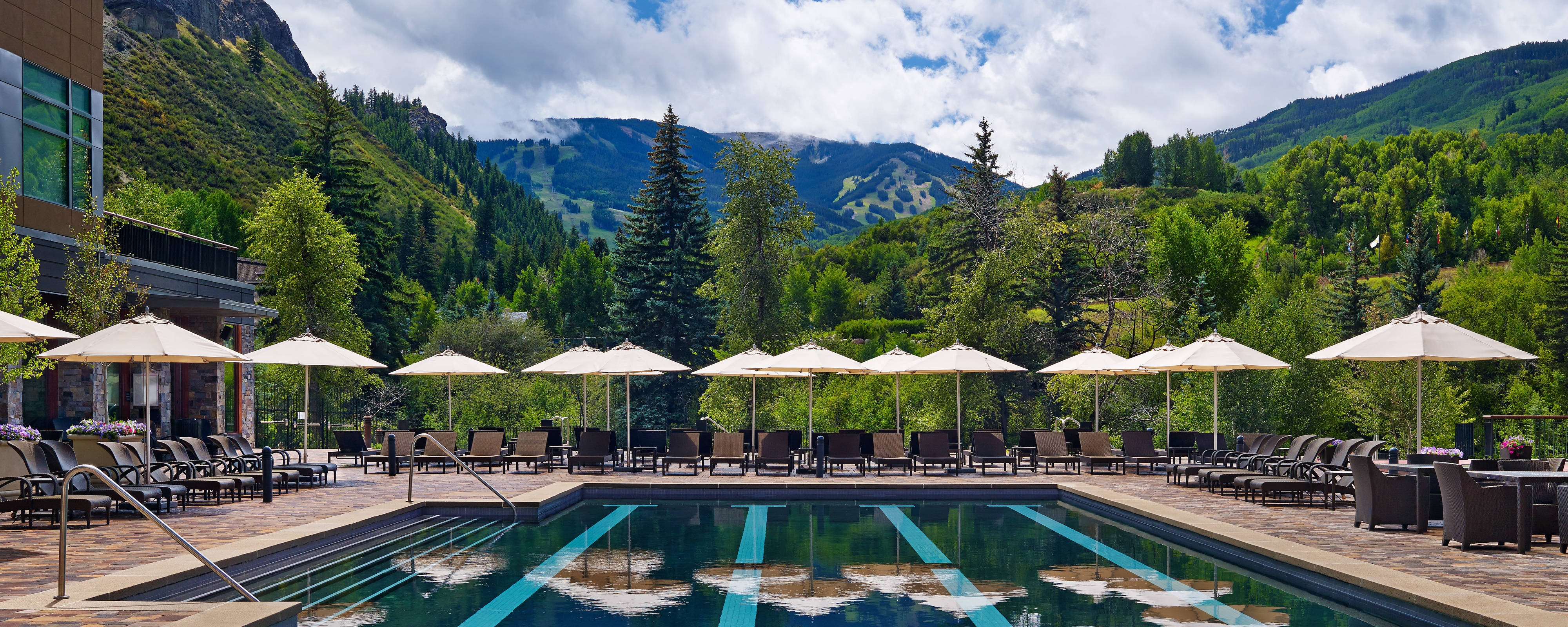 Outdoor Pool with Beaver Creek Views