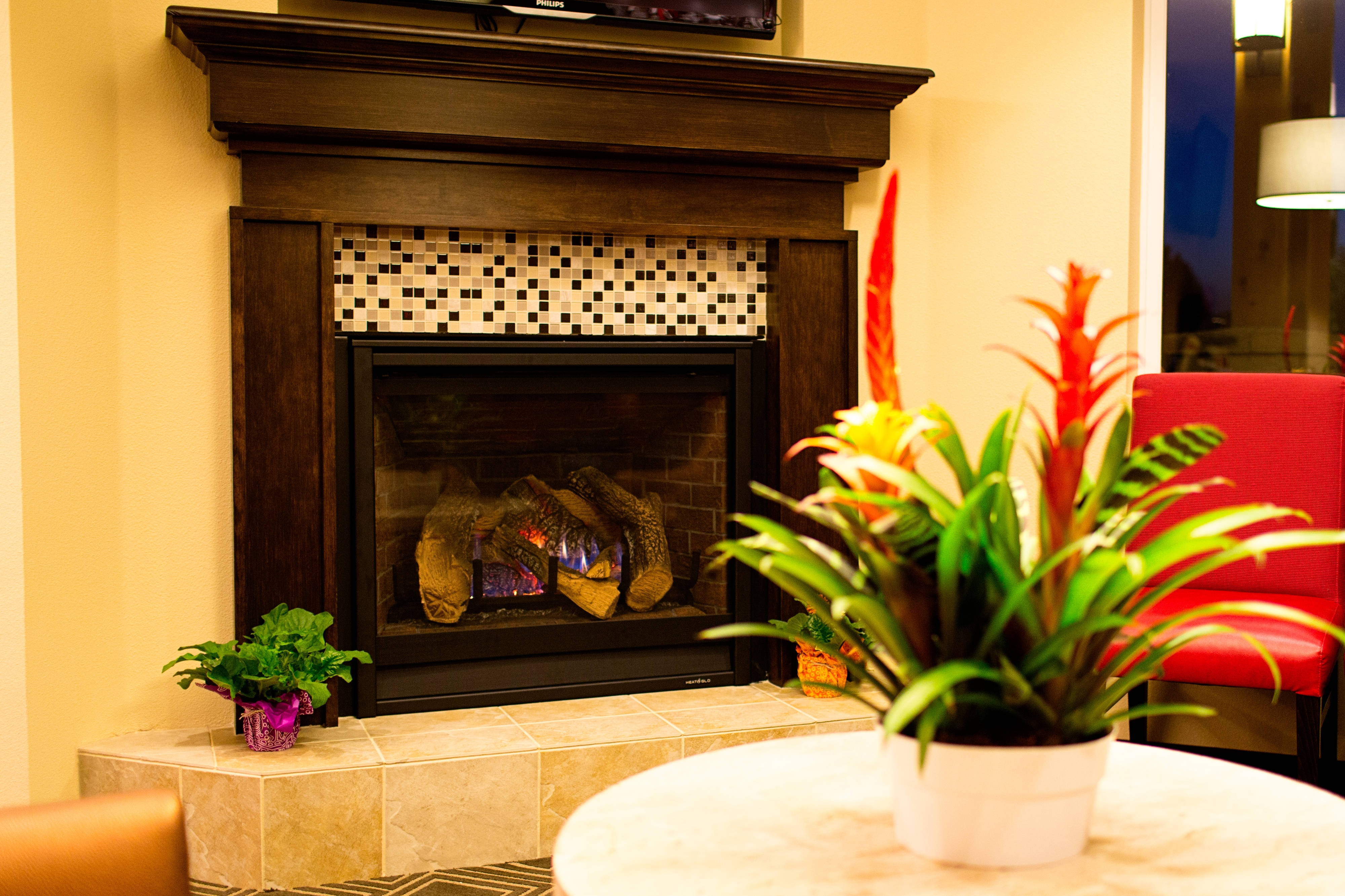 Lobby Fireplace Area