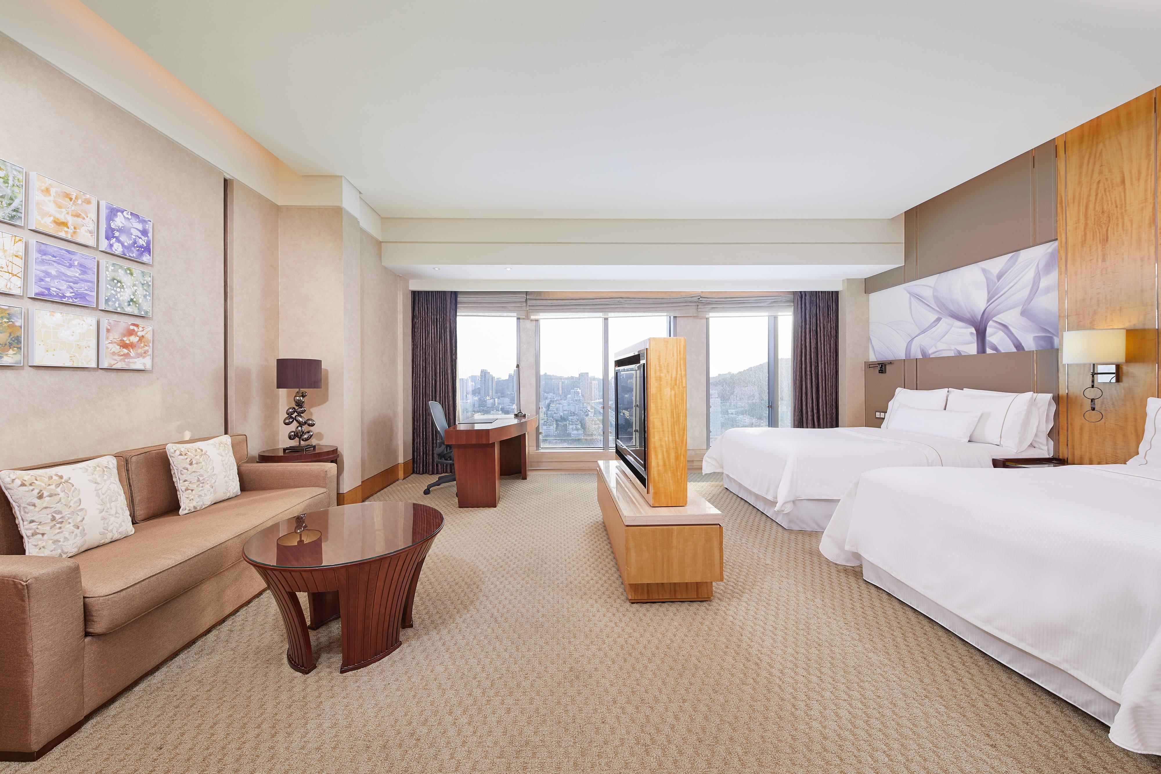 Premier-Gästezimmer mit zwei Twinsize-Betten