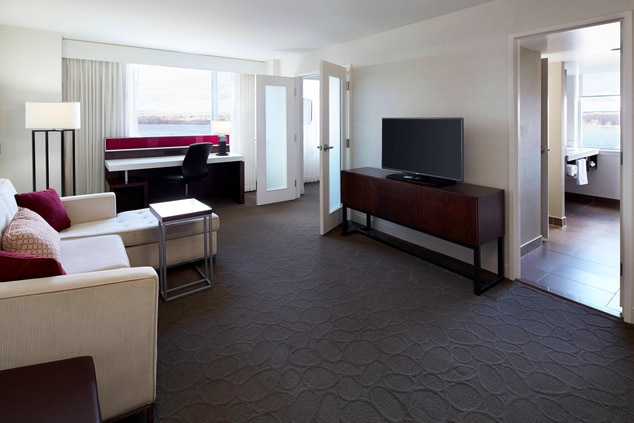 Delta Fredericton Executive Suite with 1 King in Separate Bedroom
