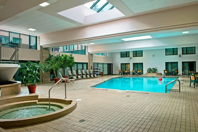 Indoor pool in Halifax hotel
