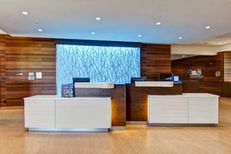 Réception du Fairfield Inn & Suites Kamloops