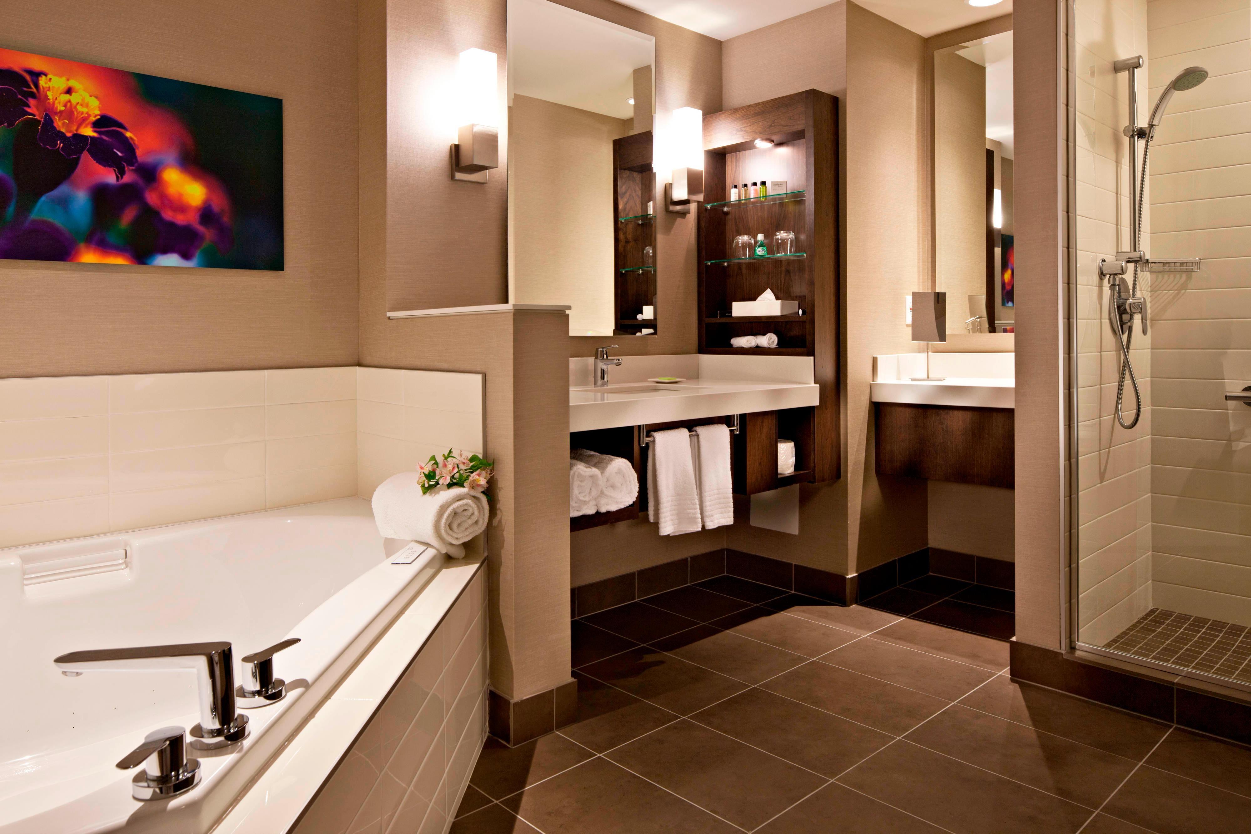 Baño de la habitación de lujo
