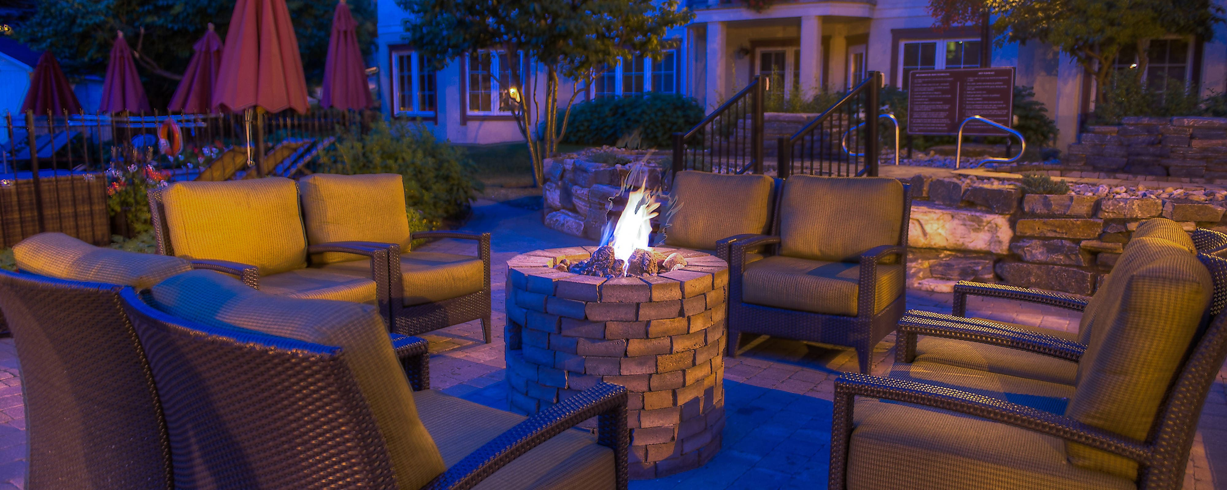 Mont Tremblant outdoor firepit