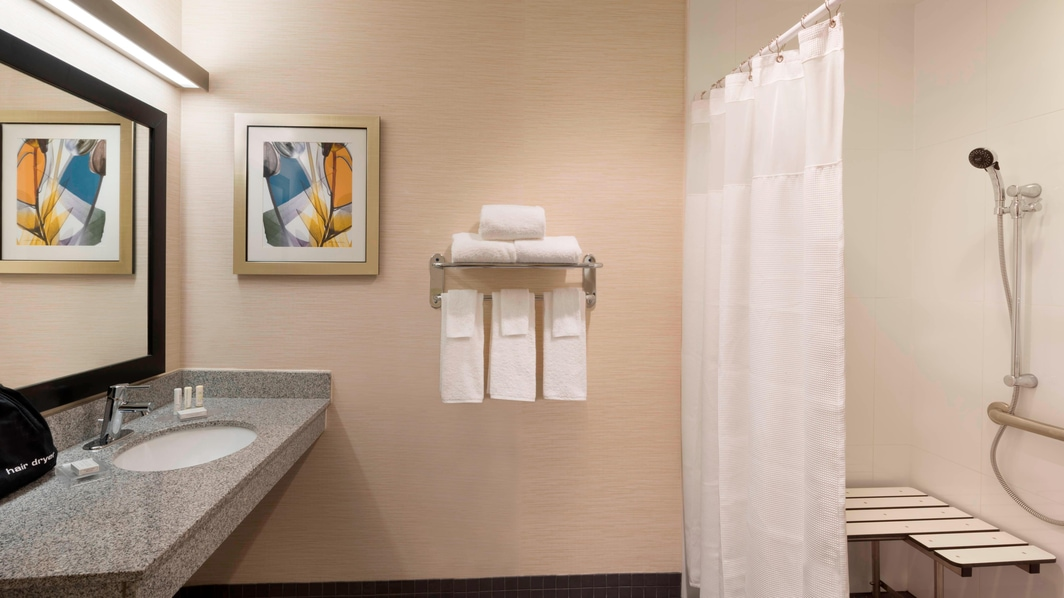 Fairfield Inn & Suites Accessible Bathroom