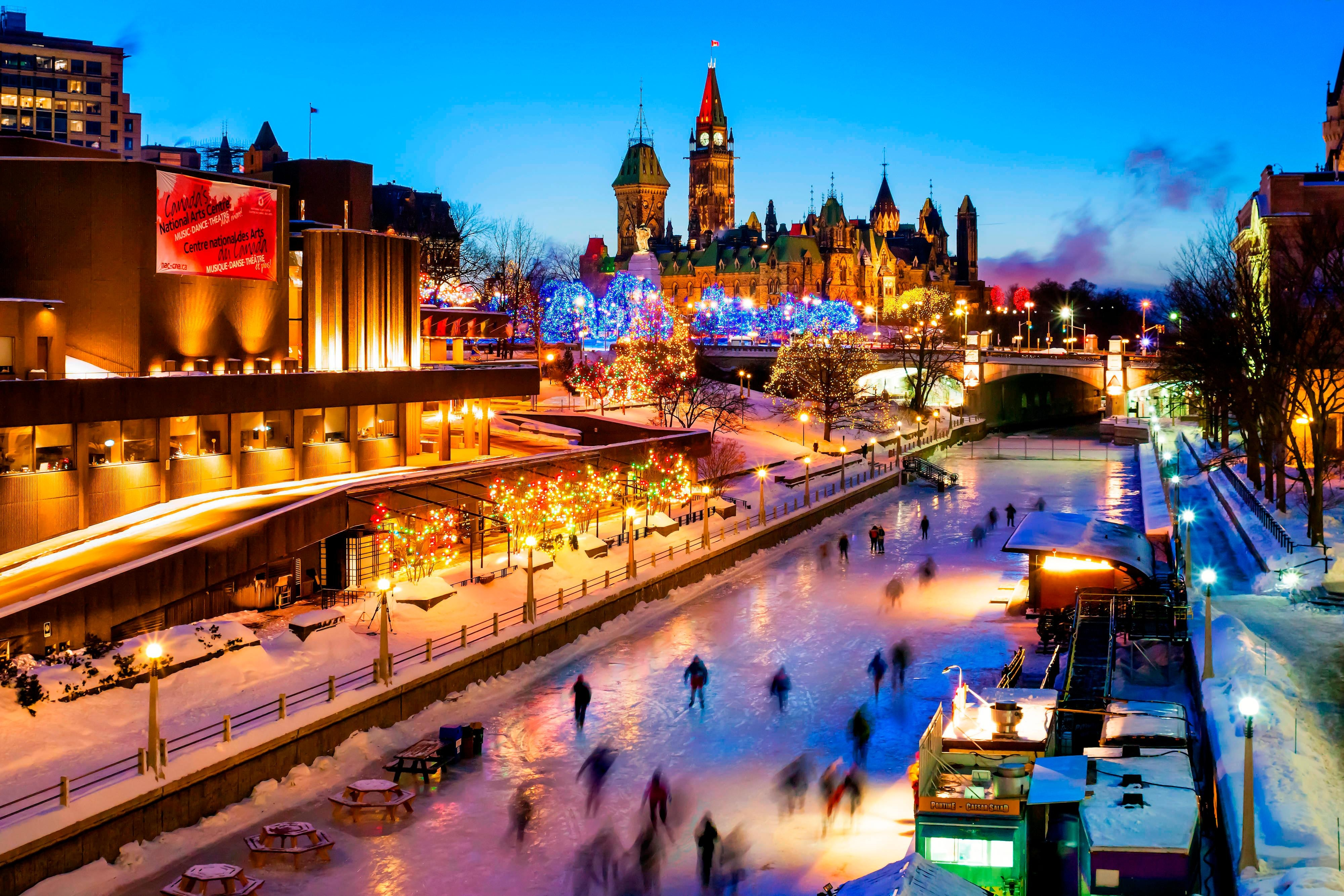 Rideau Canal in the Wintertime