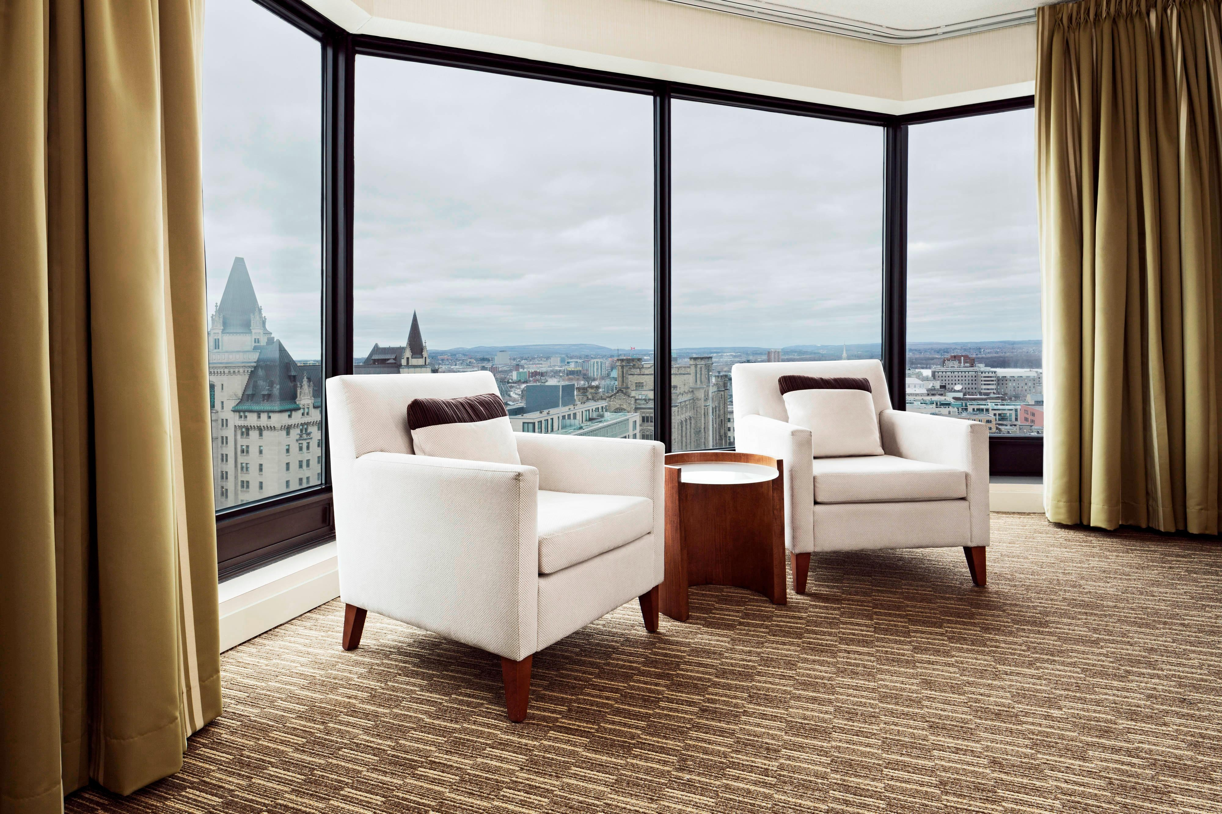 View of the Gatineau Hills from Executive Suite Parlour