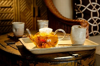 Blooming tea ritual Spa Rosseau