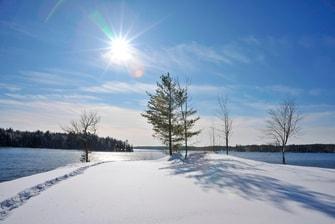L'hiver sur la péninsule de Fish Rock