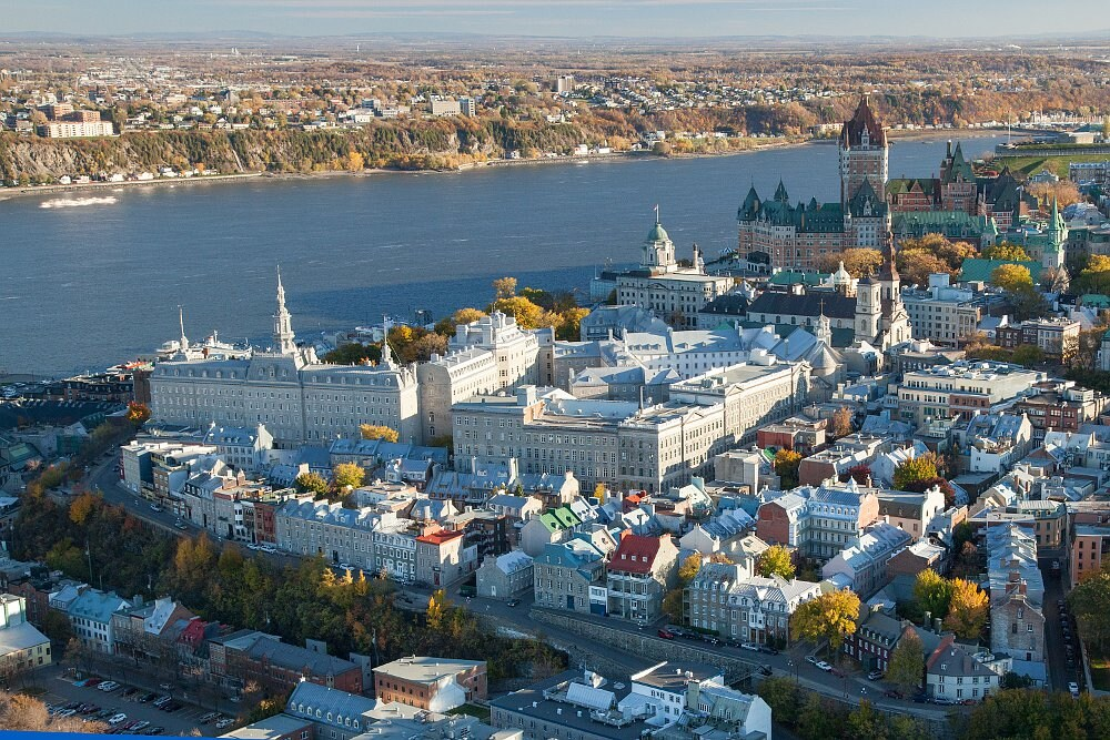 Old Quebec and Saint-Lawrence River
