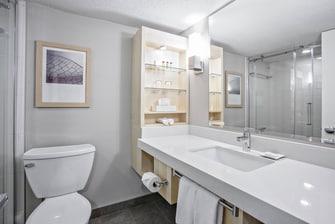 Deluxe Corner Guest Bathroom