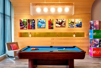 Pool Table & Art Wall
