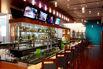 Hotel bar in Montreal Airport