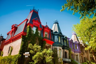Colorful houses in Montreal