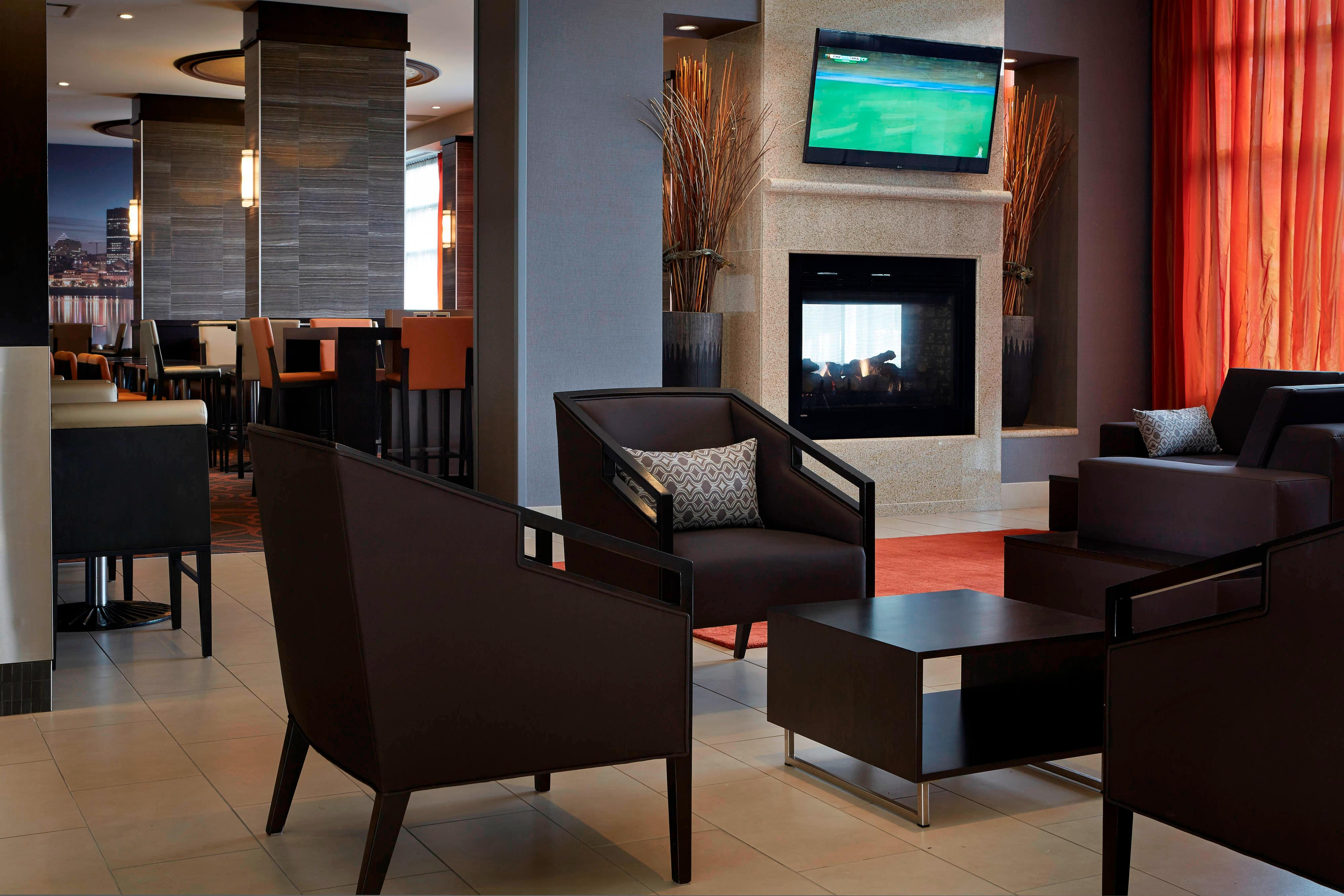 Montreal Airport hotel lobby