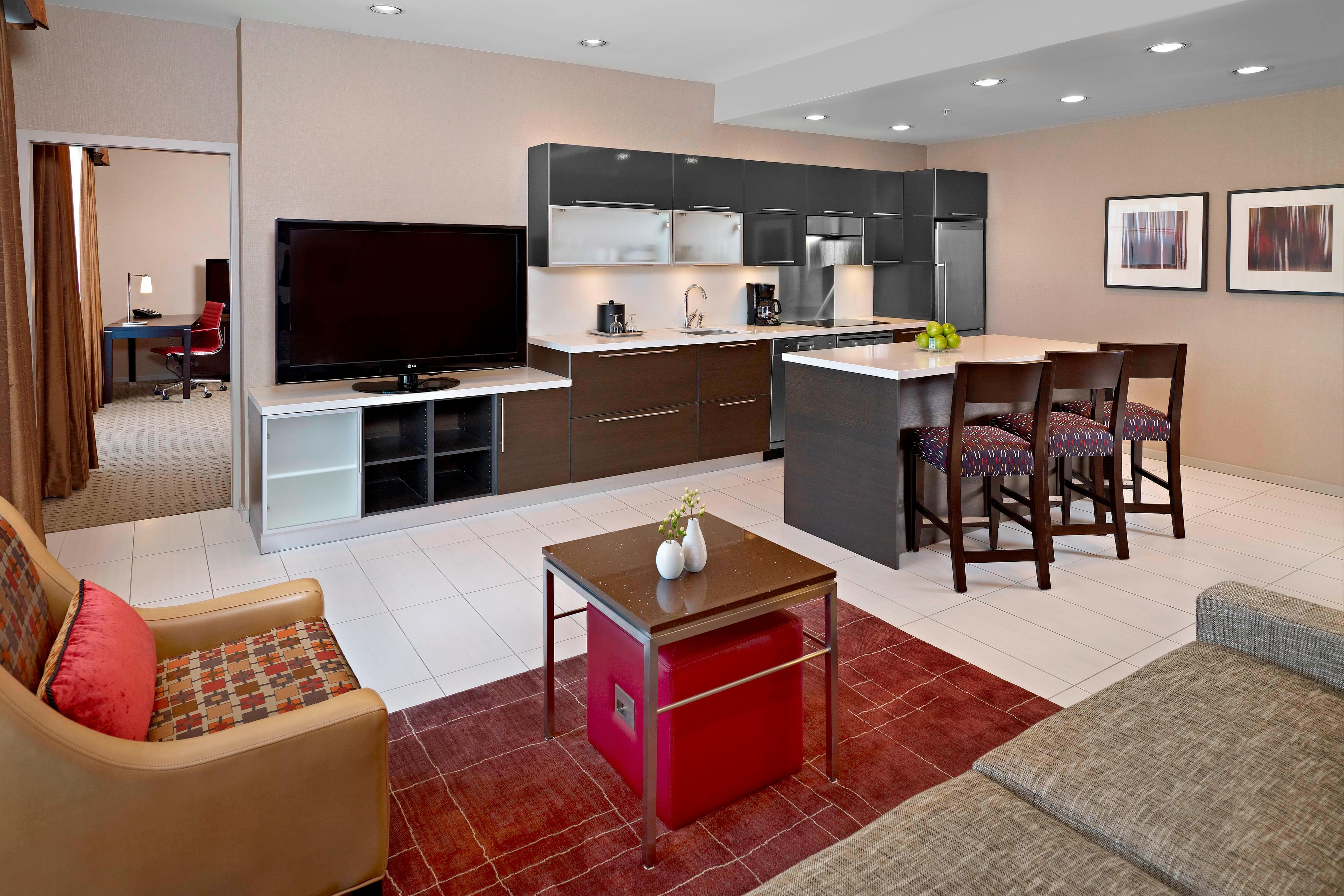 Penthouse Suite Kitchen & Living Area