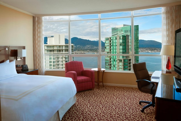 Harbourview king room in Vancouver
