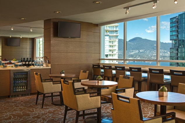Vancouver business hotel lounge