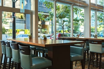 Downtown Vancouver restaurant communal table
