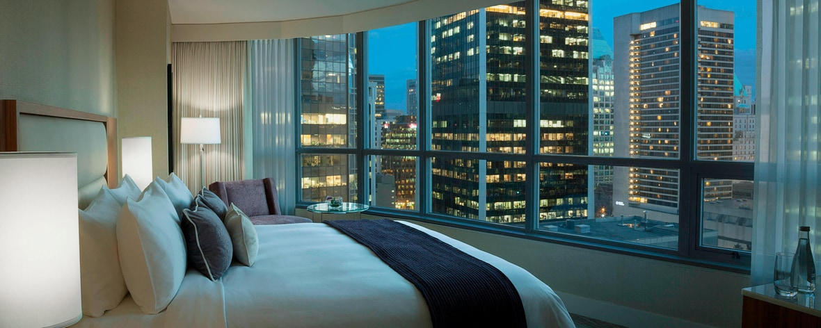 Hotel suite with Vancouver view