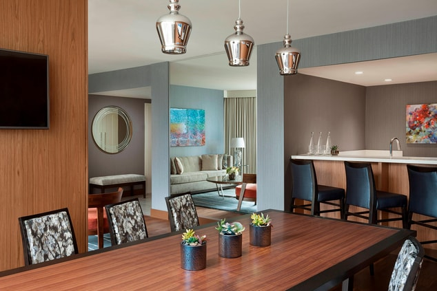 Vancouver hotel suite dining area