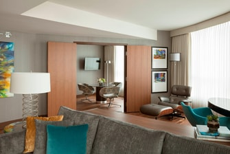 Vancouver hotel  suite sitting area