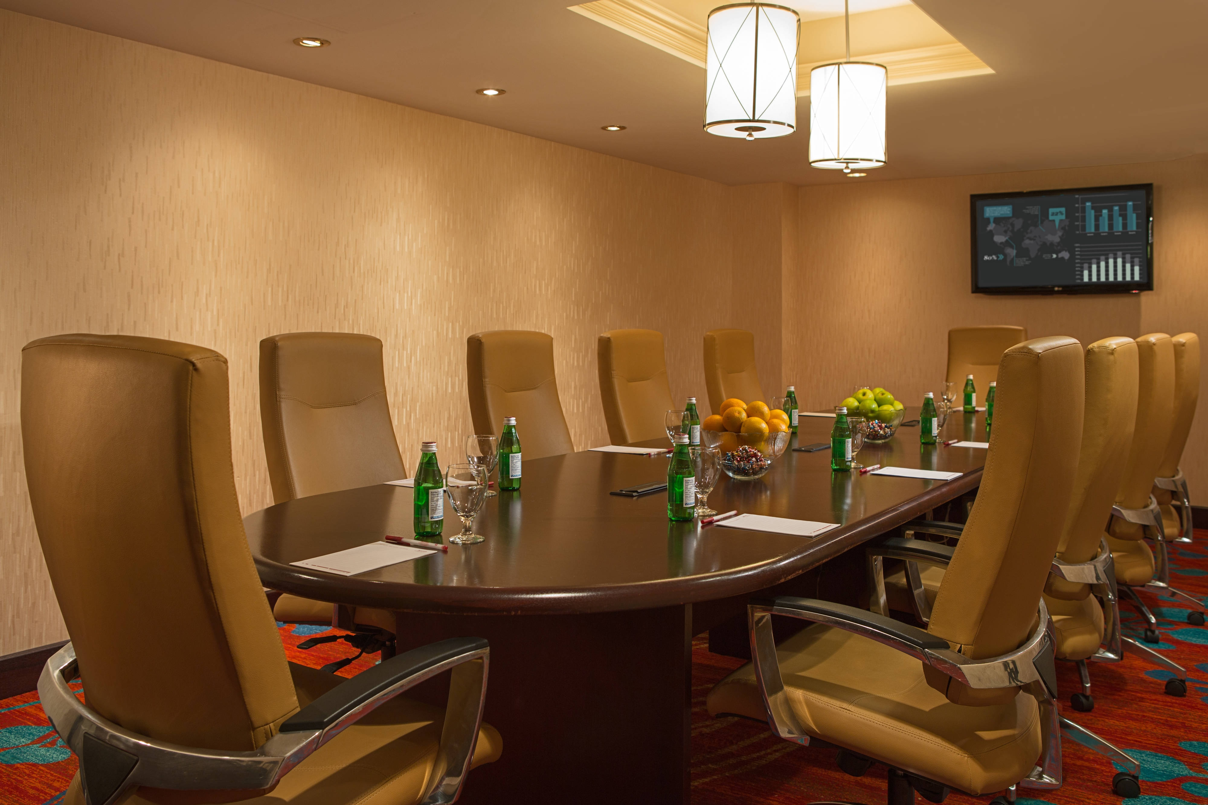 Vancouver business hotel with boardroom