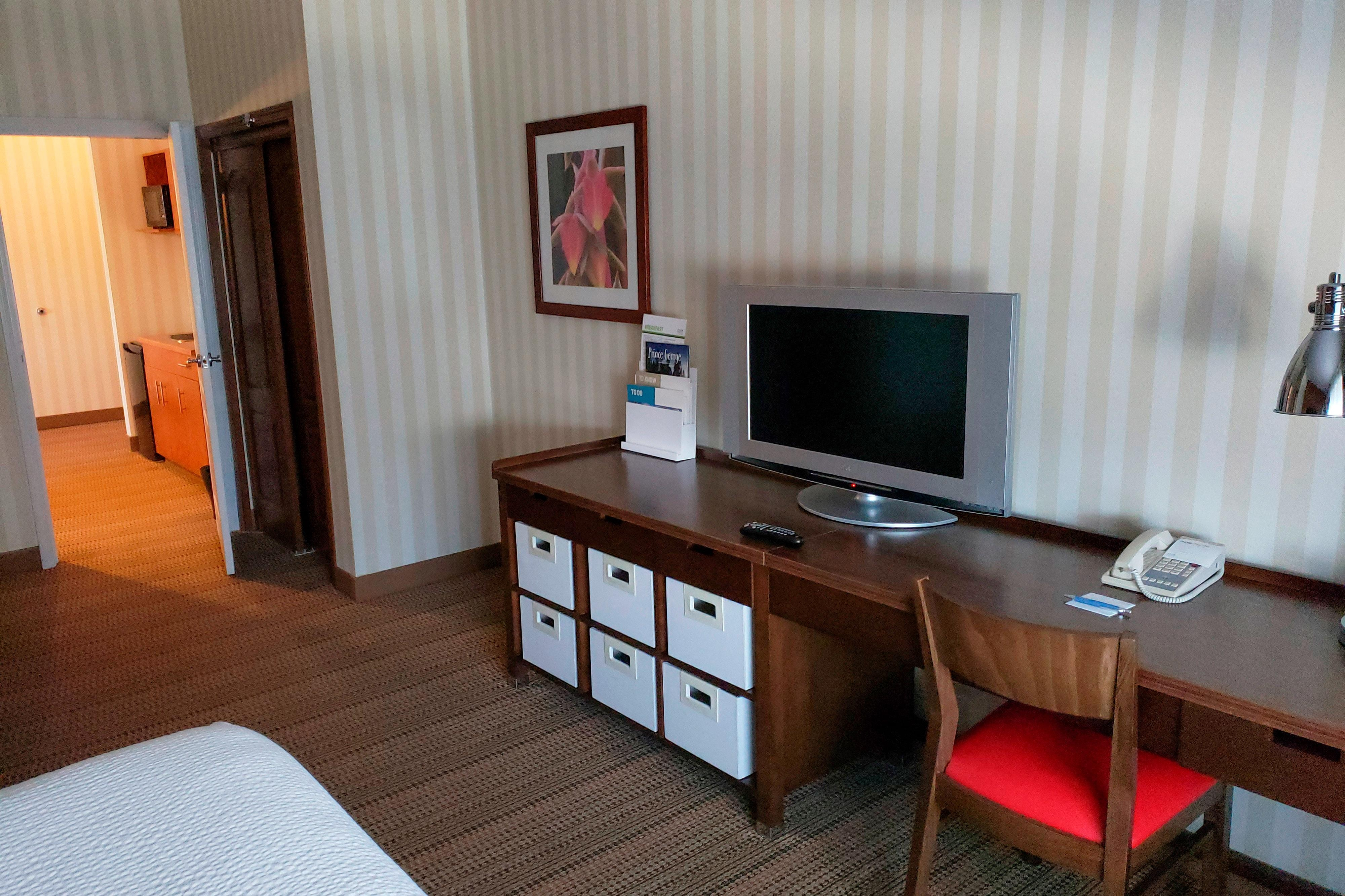 Two-Bedroom Suite - TV and Desk