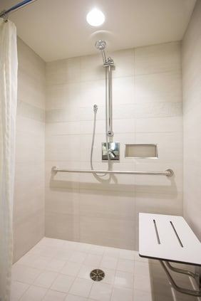 Accessible Guestroom Bathroom Calgary