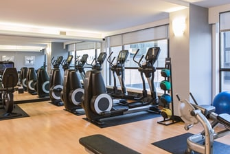Downtown Calgary hotel gym