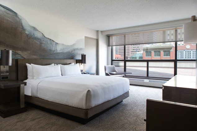 Accessible king guest room Calgary