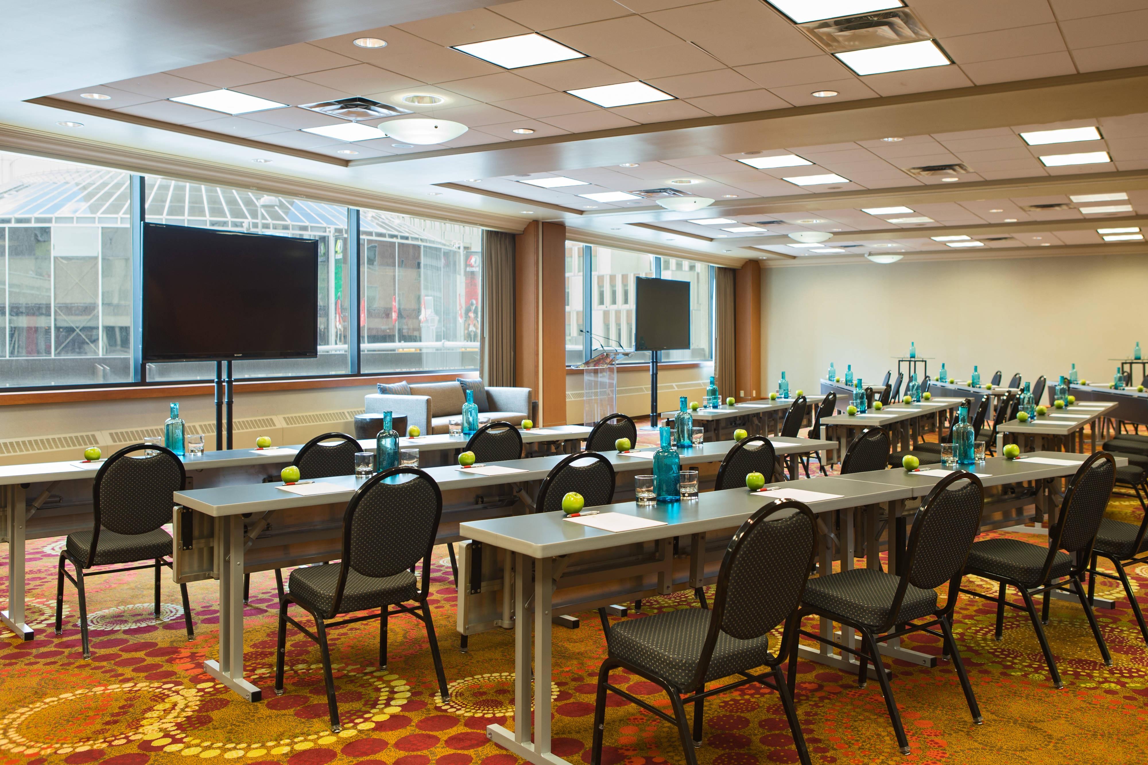 Salle en configuration salle de classe à Calgary