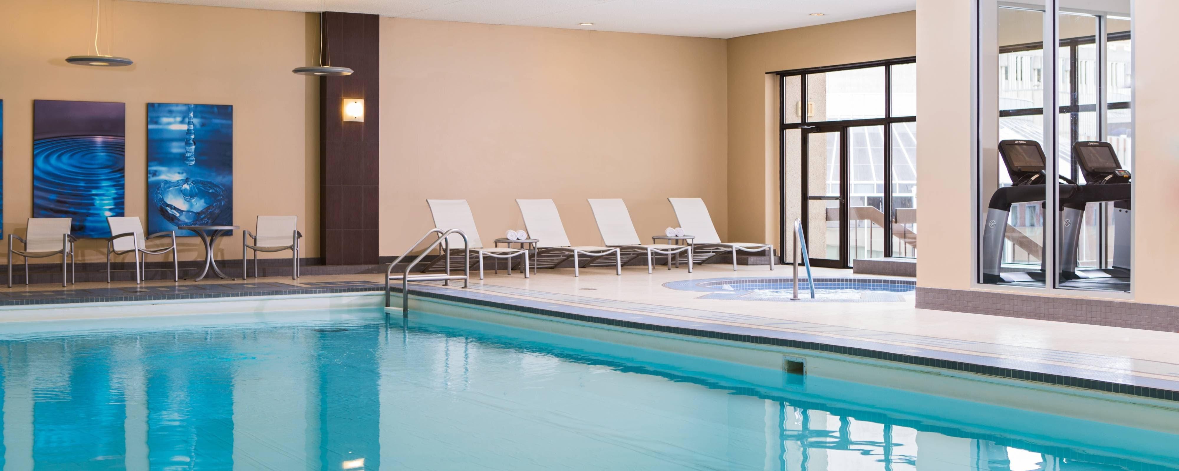 Calgary hotel with gym fitness center calgary marriott