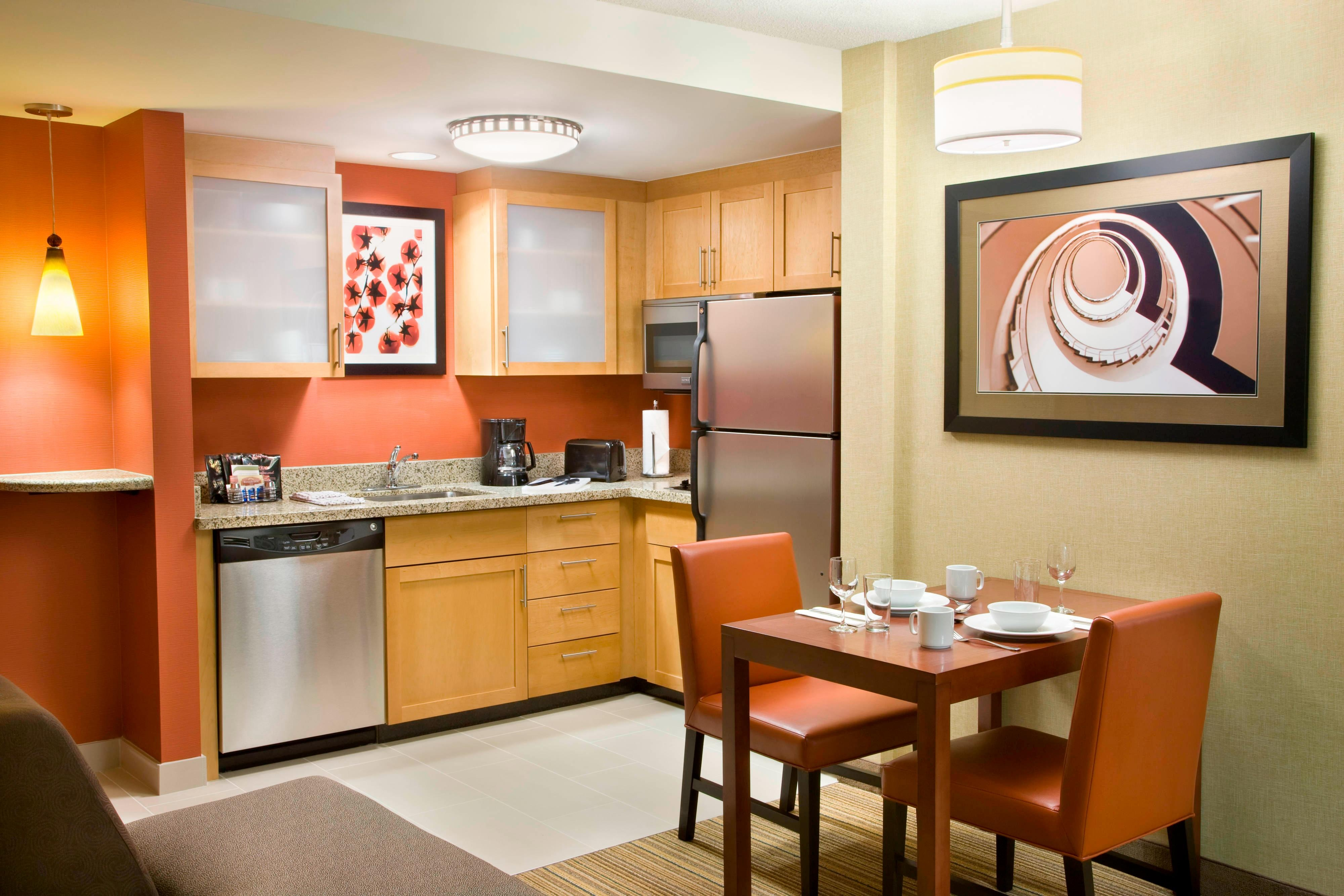 RI Calgary Hotel Room Kitchen