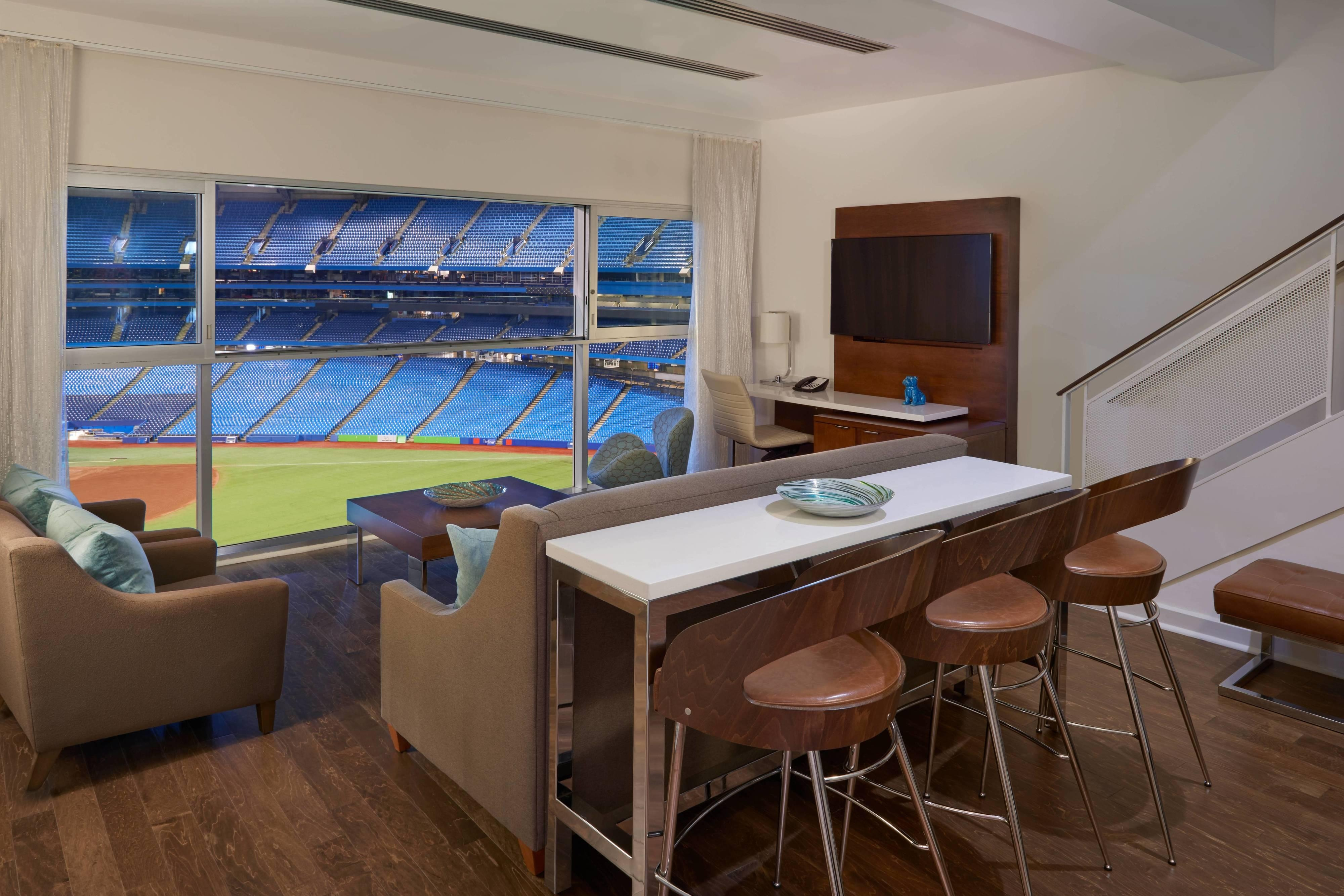 One-Bedroom Bi-Level Stadium View Suite