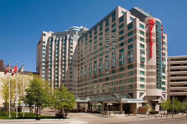 Luxury hotel exterior downtown Toronto