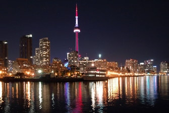 Toronto, Ontario night skyline