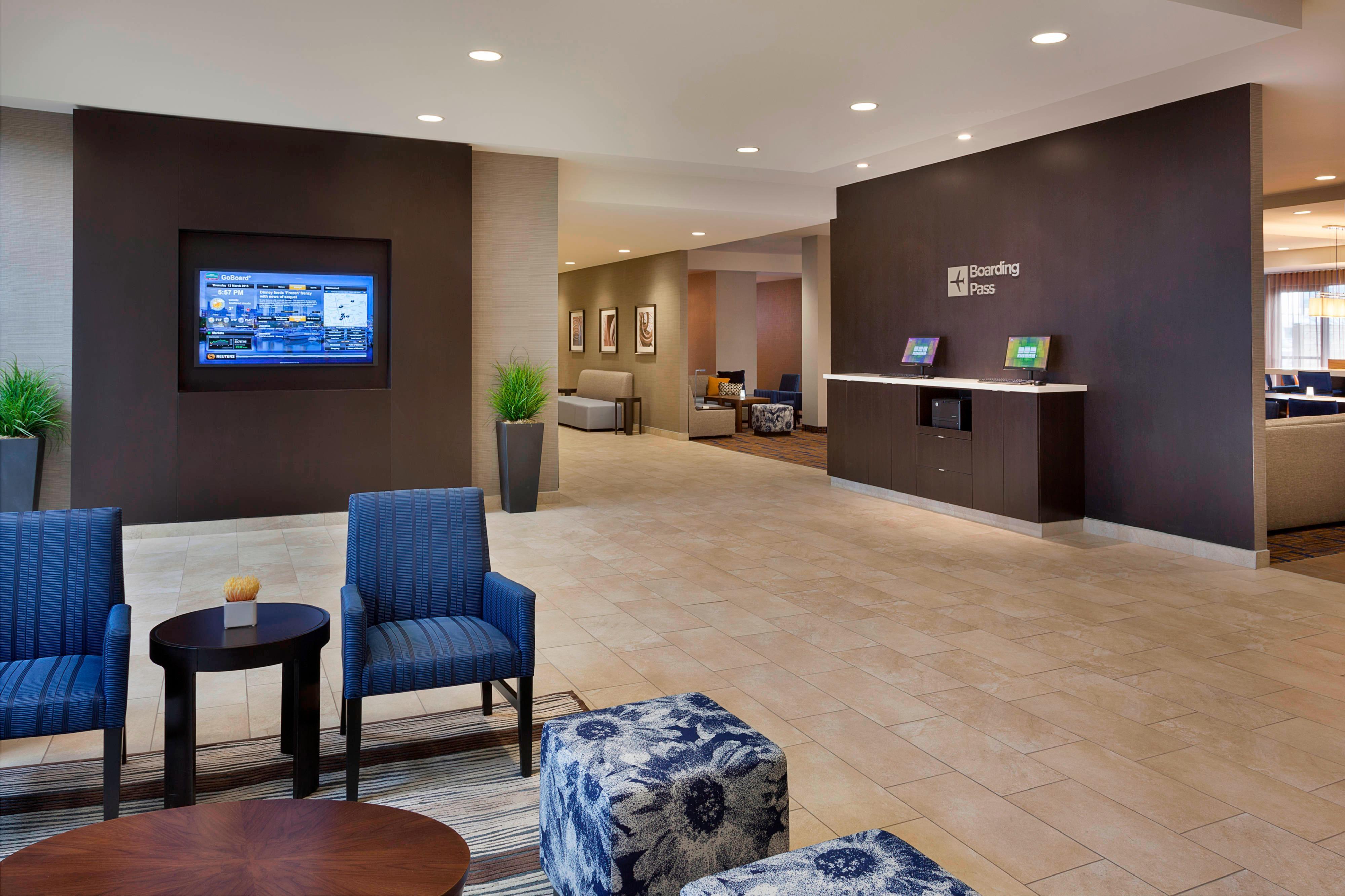 Hotel lobby in Markham Ontario