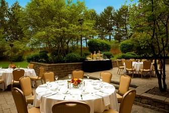 Outdoor event terrace Toronto hotel
