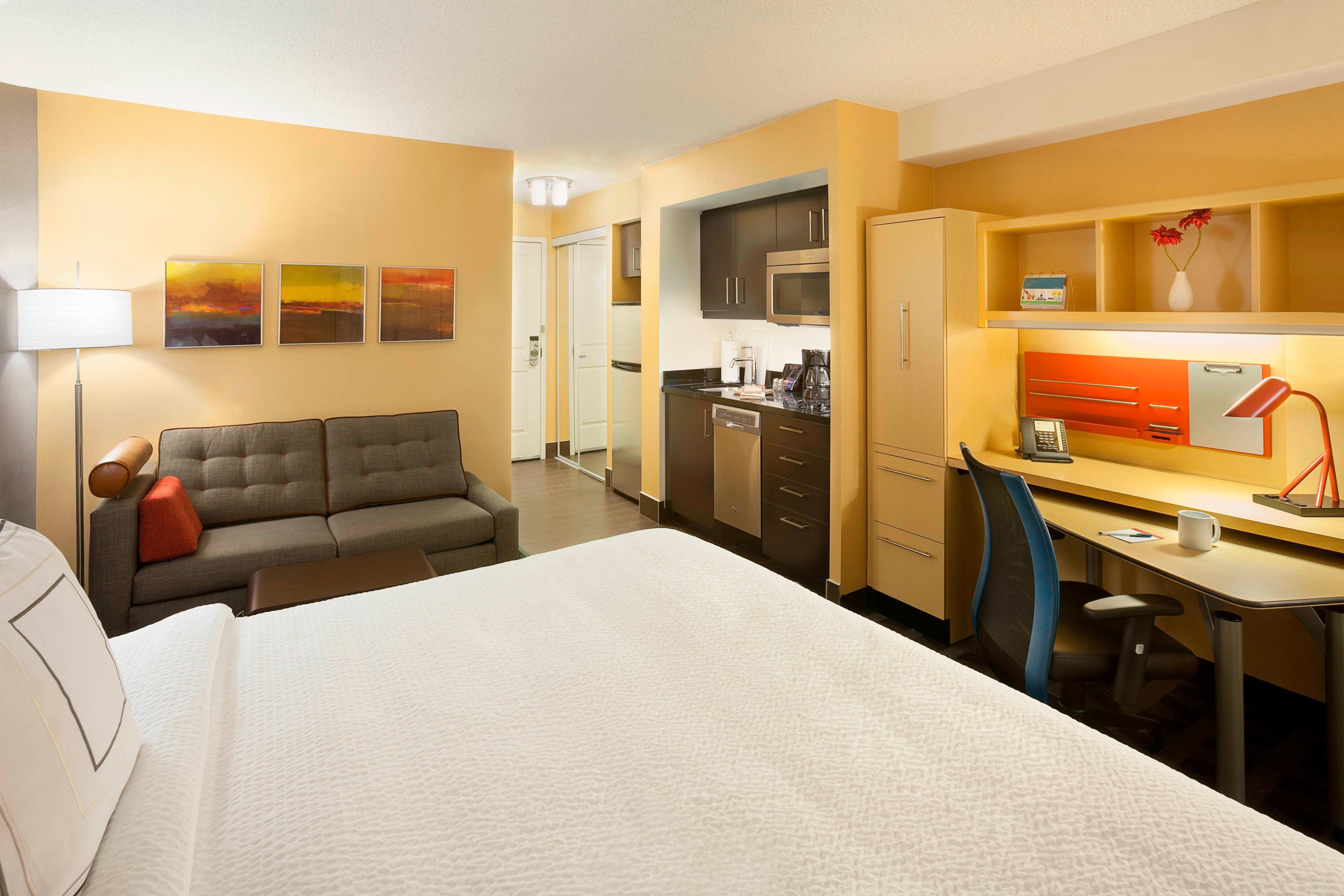 TownePlace Suites King Bed Room