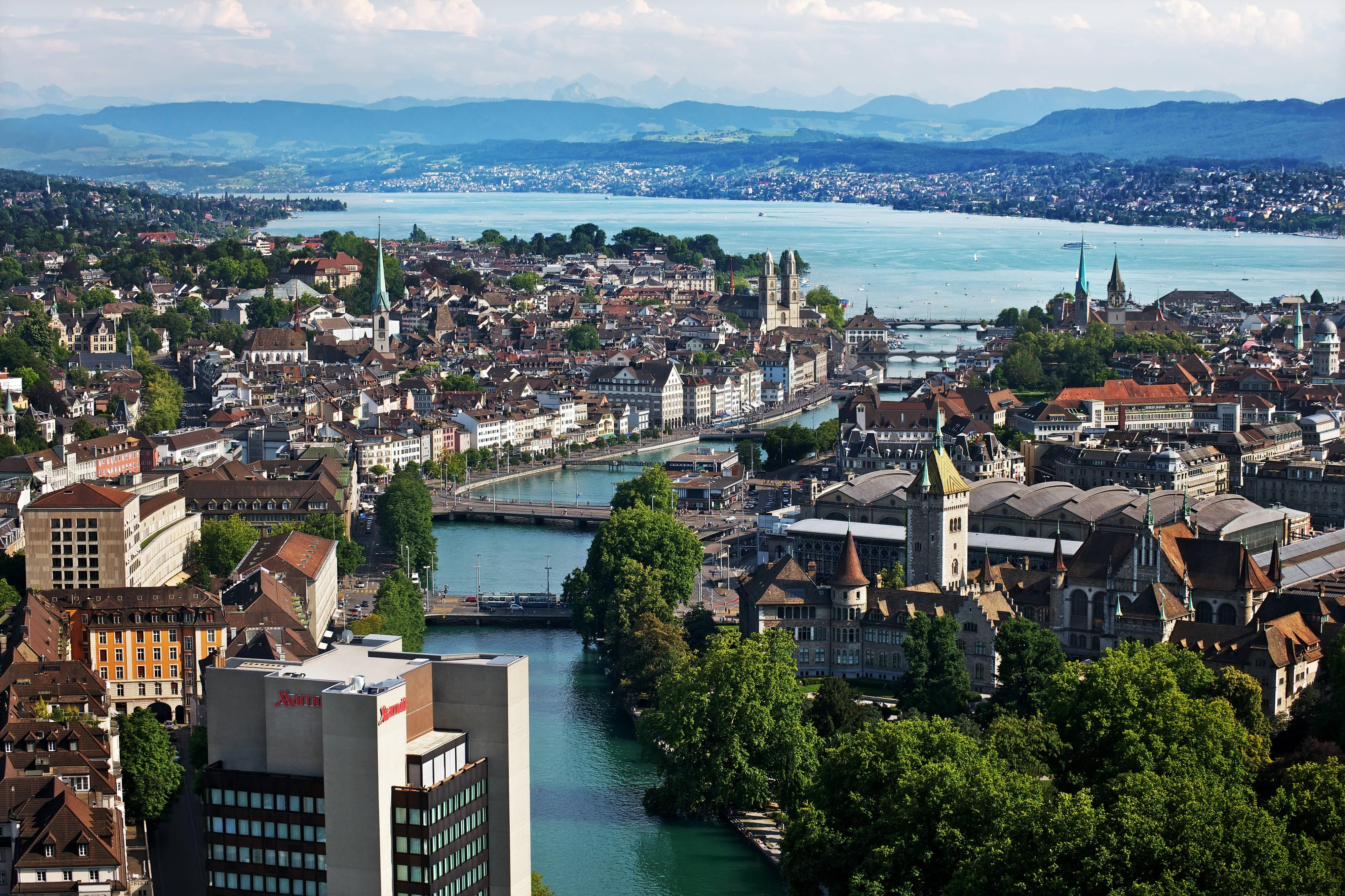 Innenstadt Zürich Hotel Außenbereich